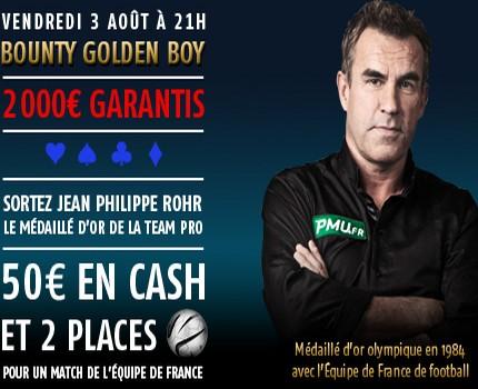 Bounty spécial Jean Philippe Rohr sur PMU Poker