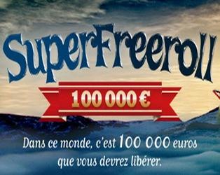 Super Freeroll de 100 000 euros
