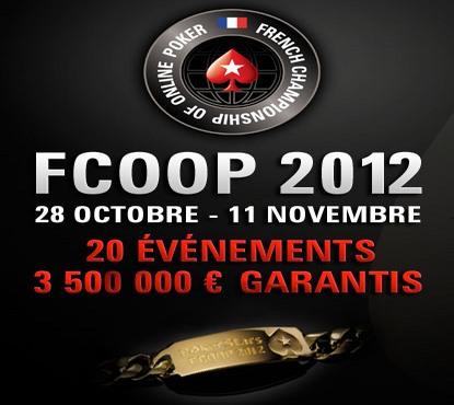 Début des FCOOP 2012 dimanche 28 octobre sur PokerStars