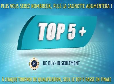 Lancement du Top 5+ ce lundi sur PMU Poker
