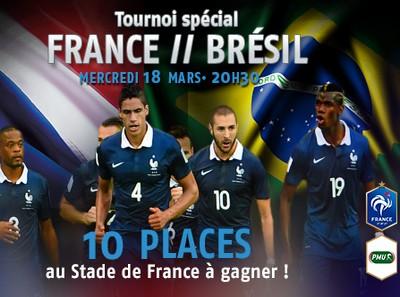 Des places pour France – Brésil à gagner